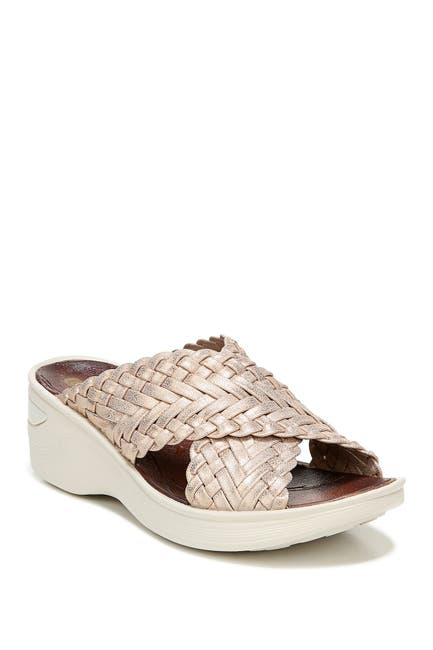 Image of BZEES Dainty Woven Strap Wedge Sandal