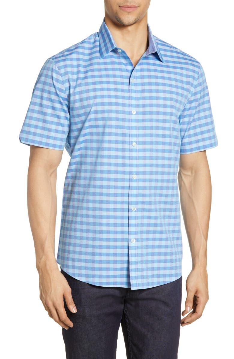 ZACHARY PRELL Dubin Regular Fit Check Shirt, Main, color, 400