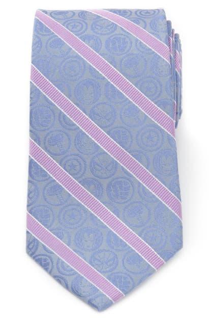 Cufflinks, Inc Marvel Comics Stripe Silk Tie In Blue