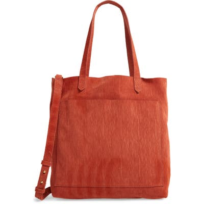 Madewell The Medium Transport Tote Corduroy Suede Edition -