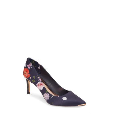 Ted Baker London Wishirp Floral Pointed Toe Pump, Blue
