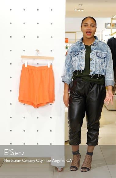 Cuff Hem Linen Blend Shorts, sales video thumbnail