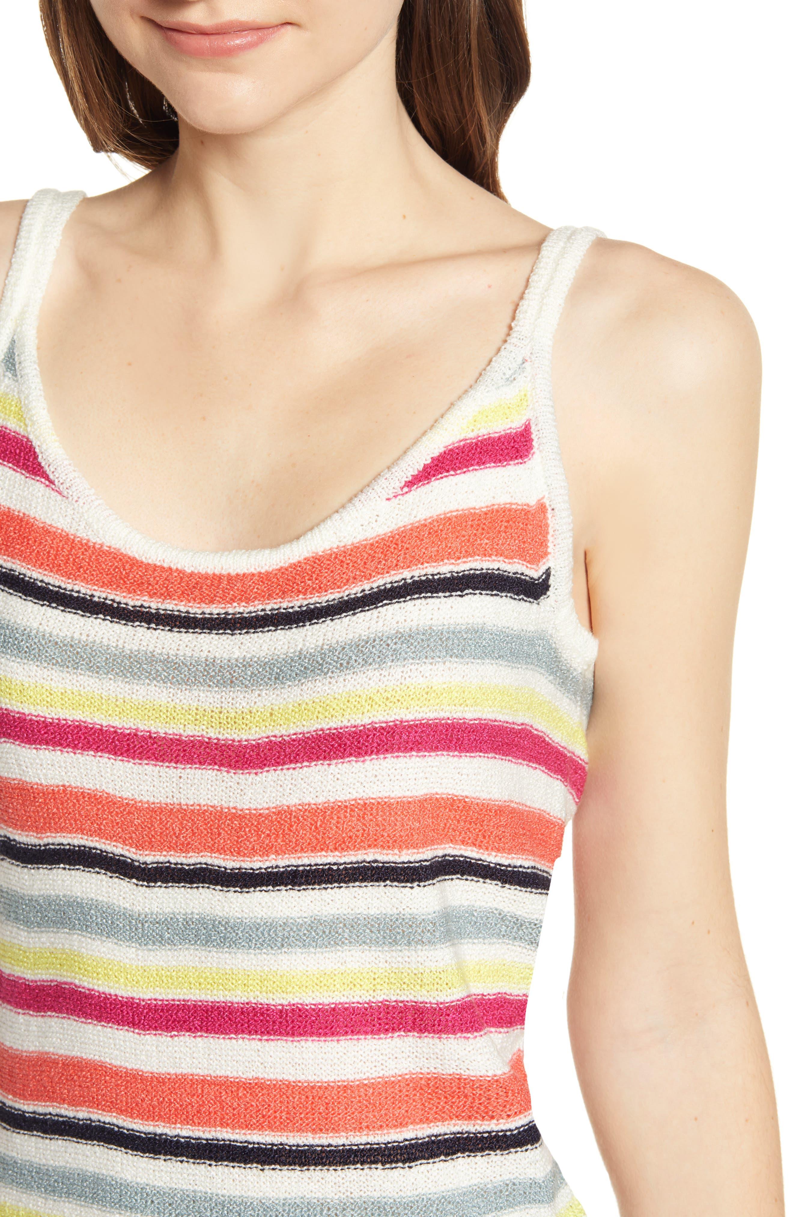 ,                             Aeon Stripe Sweater Tank,                             Alternate thumbnail 4, color,                             IVORY