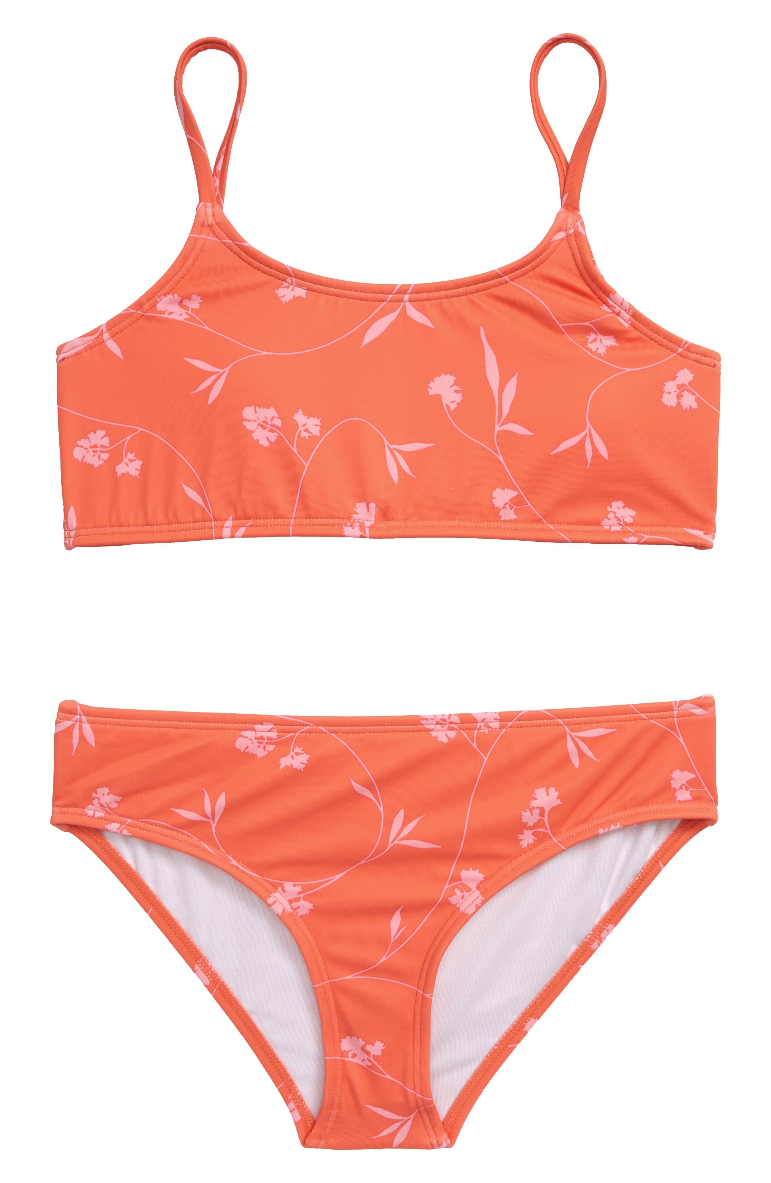 Girls Billabong Hanky Tie TwoPiece Swimsuit Size 10  Pink