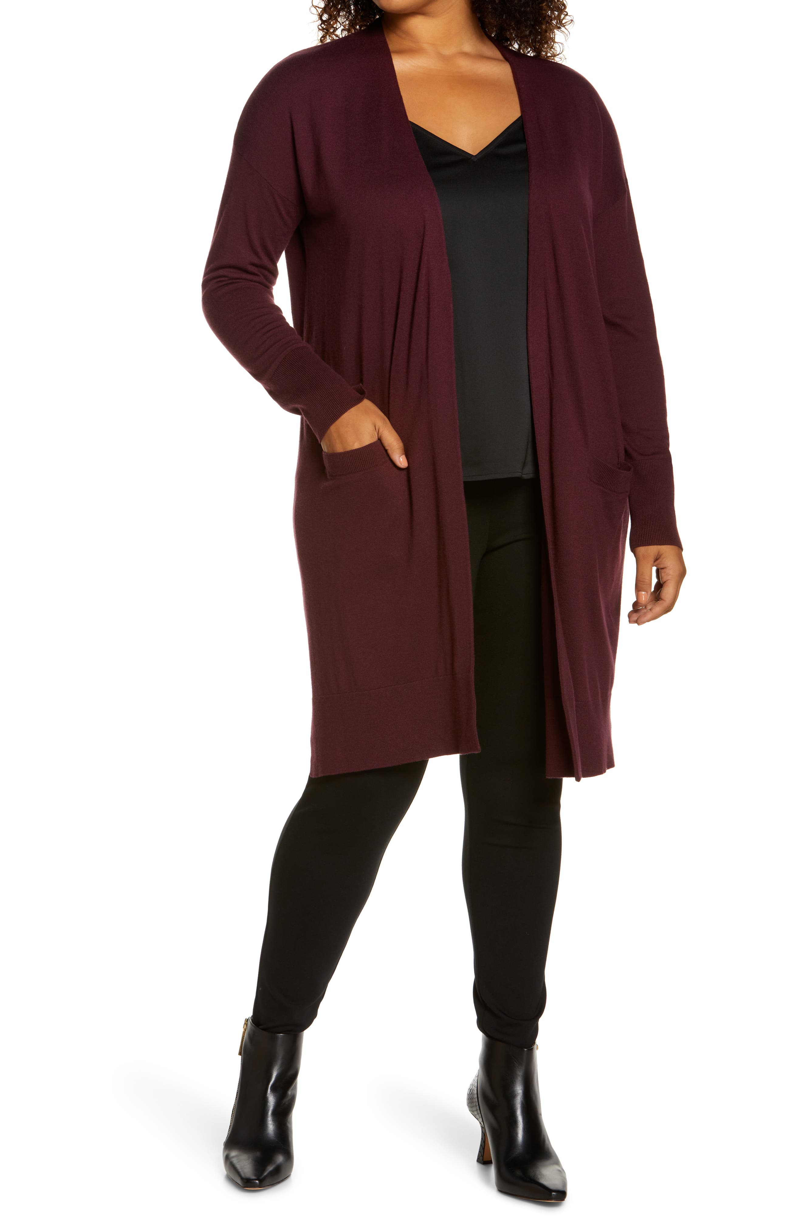 Plus Size Women's Halogen Long Cardigan