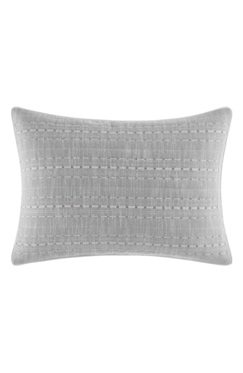 NAUTICA Bronwell Breakfast Accent Pillow, Main, color, LIGHT GREY