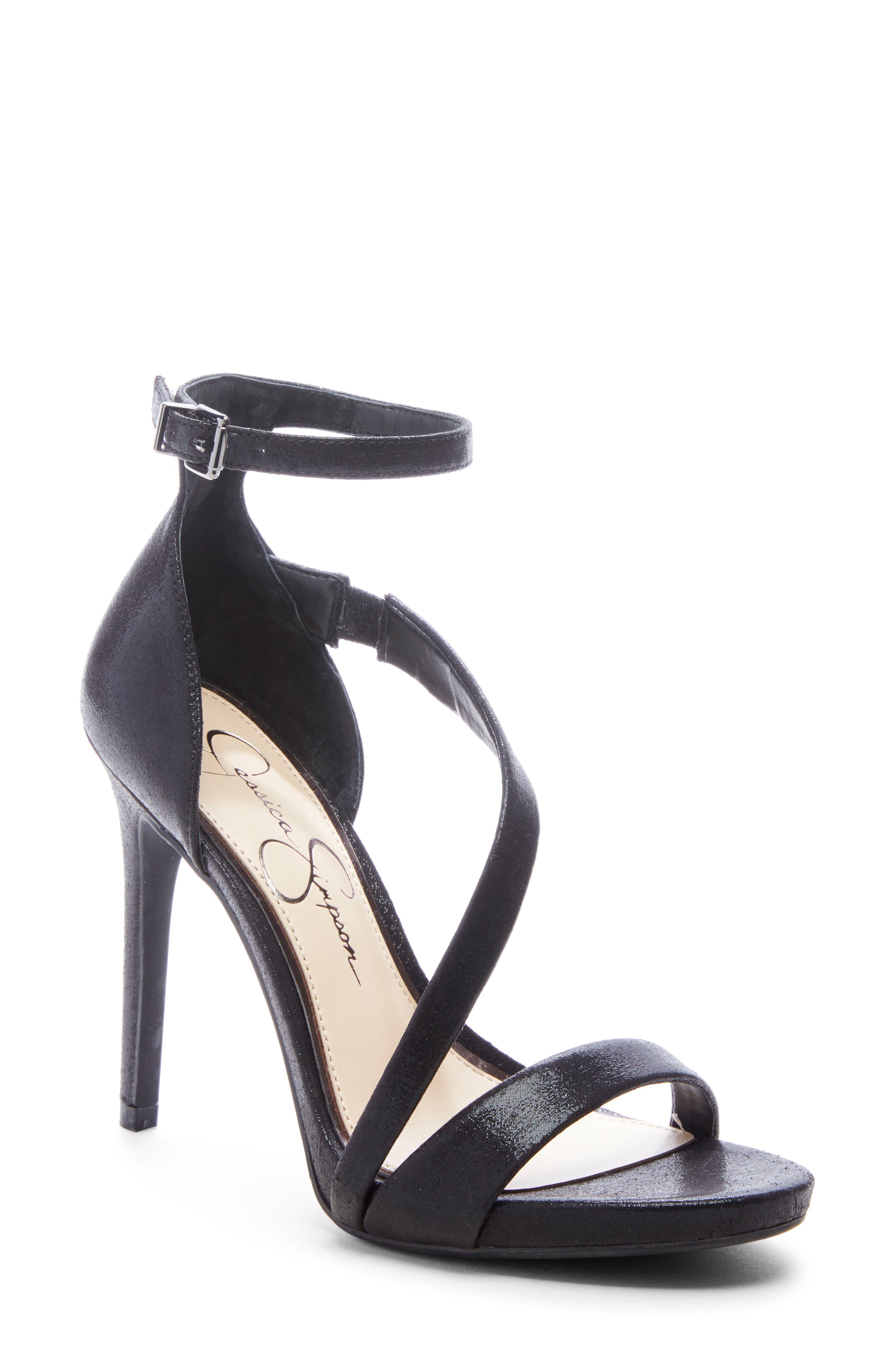 A diagonal strap adds subtle drama to a lofty sandal that\\\'s ready to step out on the town. Style Name: Jessica Simpson Rayli Sandal (Women). Style Number: 5813239. Available in stores.