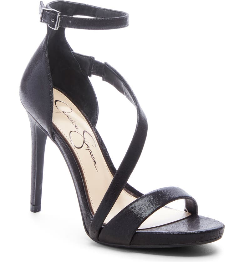JESSICA SIMPSON Rayli Sandal, Main, color, BLACK SHIMMER SAND