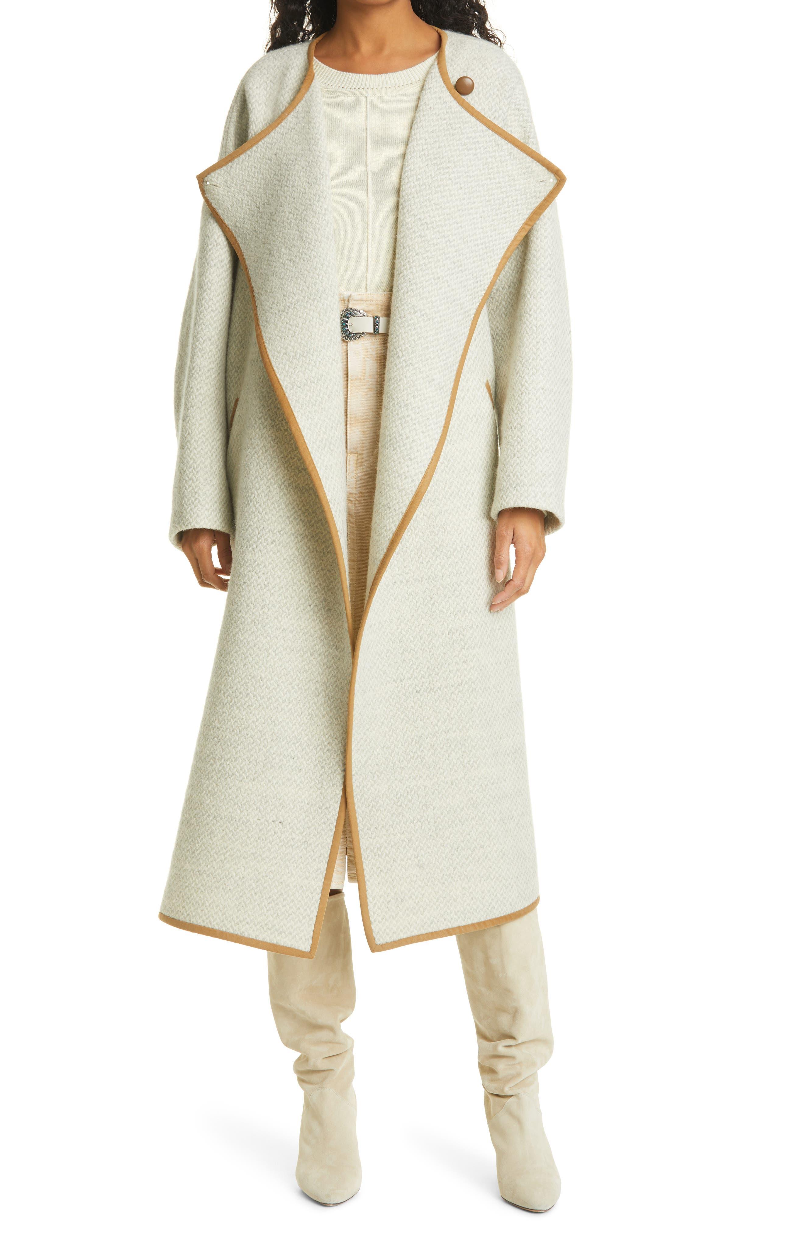 Women's Isabel Marant Etoile Jolni Wool Blanket Coat
