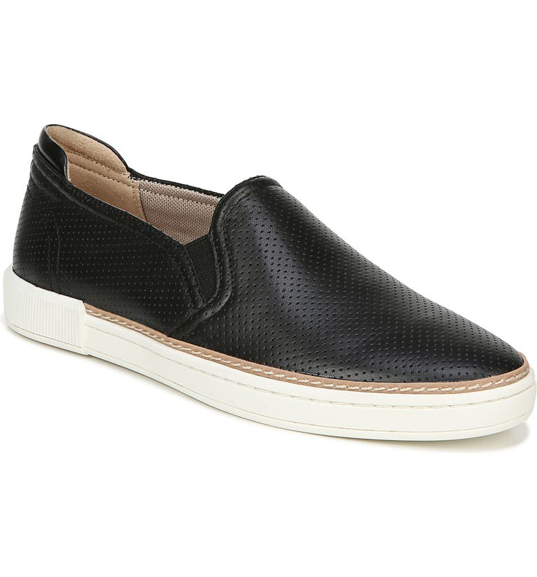 NATURALIZER Jade Slip-On Sneaker, Main, color, BLACK LEATHER