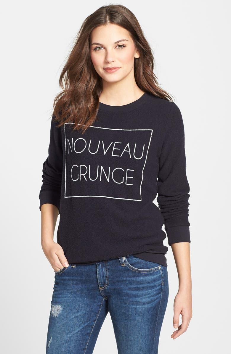 SIGNORELLI 'Yummy' Graphic Print Fleece Pullover, Main, color, 001