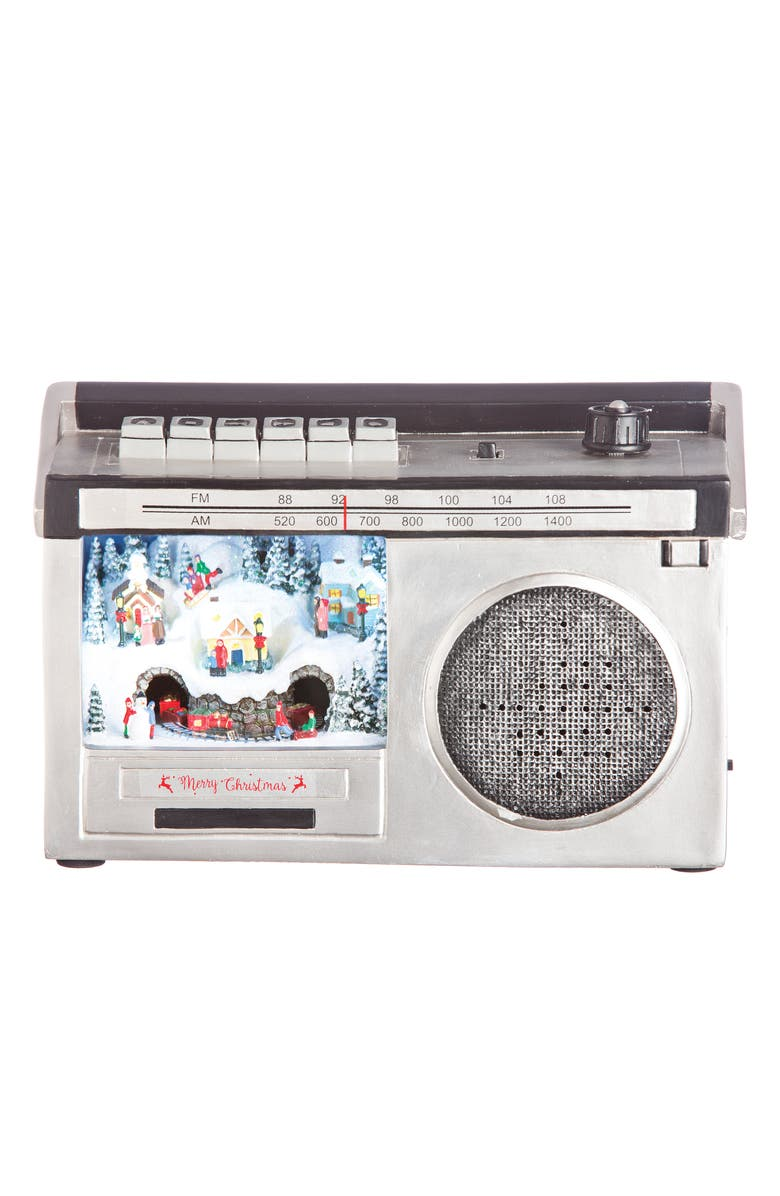ROMAN LED Boombox with Bluetooth, Main, color, SILVER