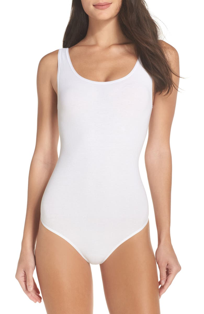 YUMMIE Ruby Thong Bodysuit, Main, color, WHITE