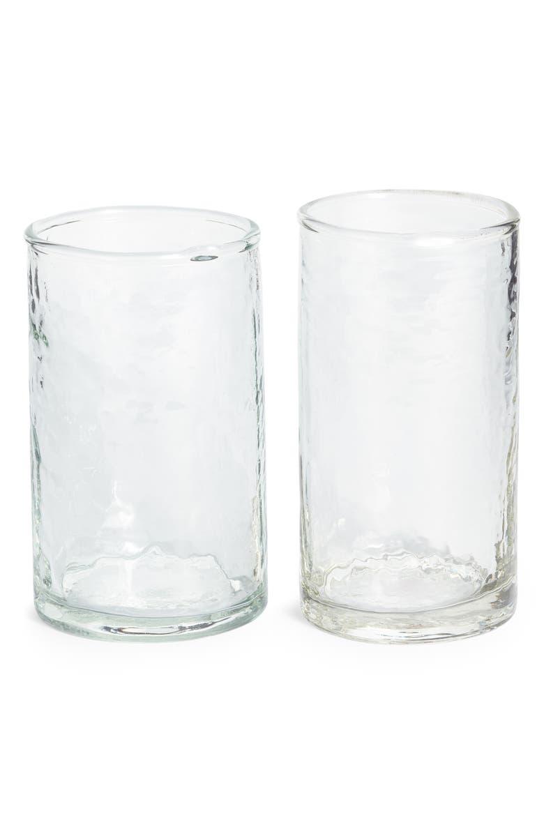 TREASURE & BOND Set of Two Hammered Short Glasses, Main, color, 960