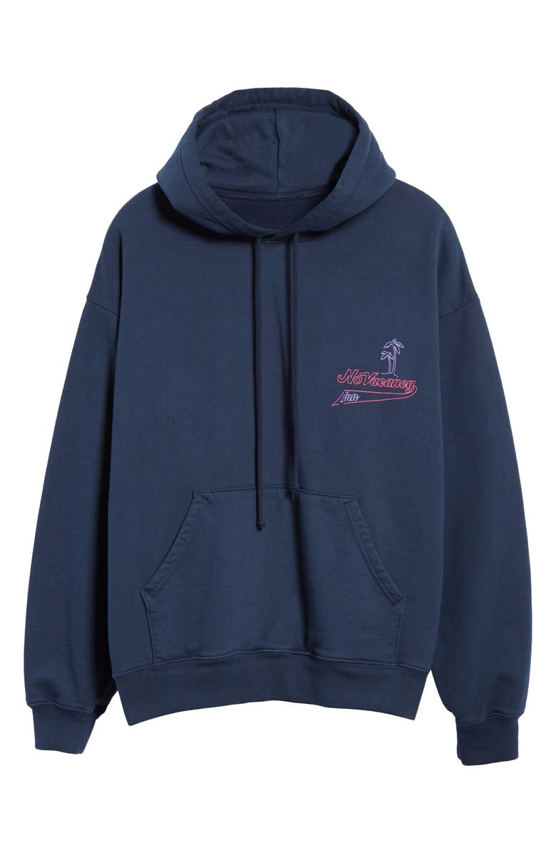 NO VACANCY INN Escape to Paradise Hoodie, Main, color, NAVY