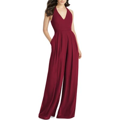 Dessy Collection Arielle V-Neck Lux Chiffon Jumpsuit