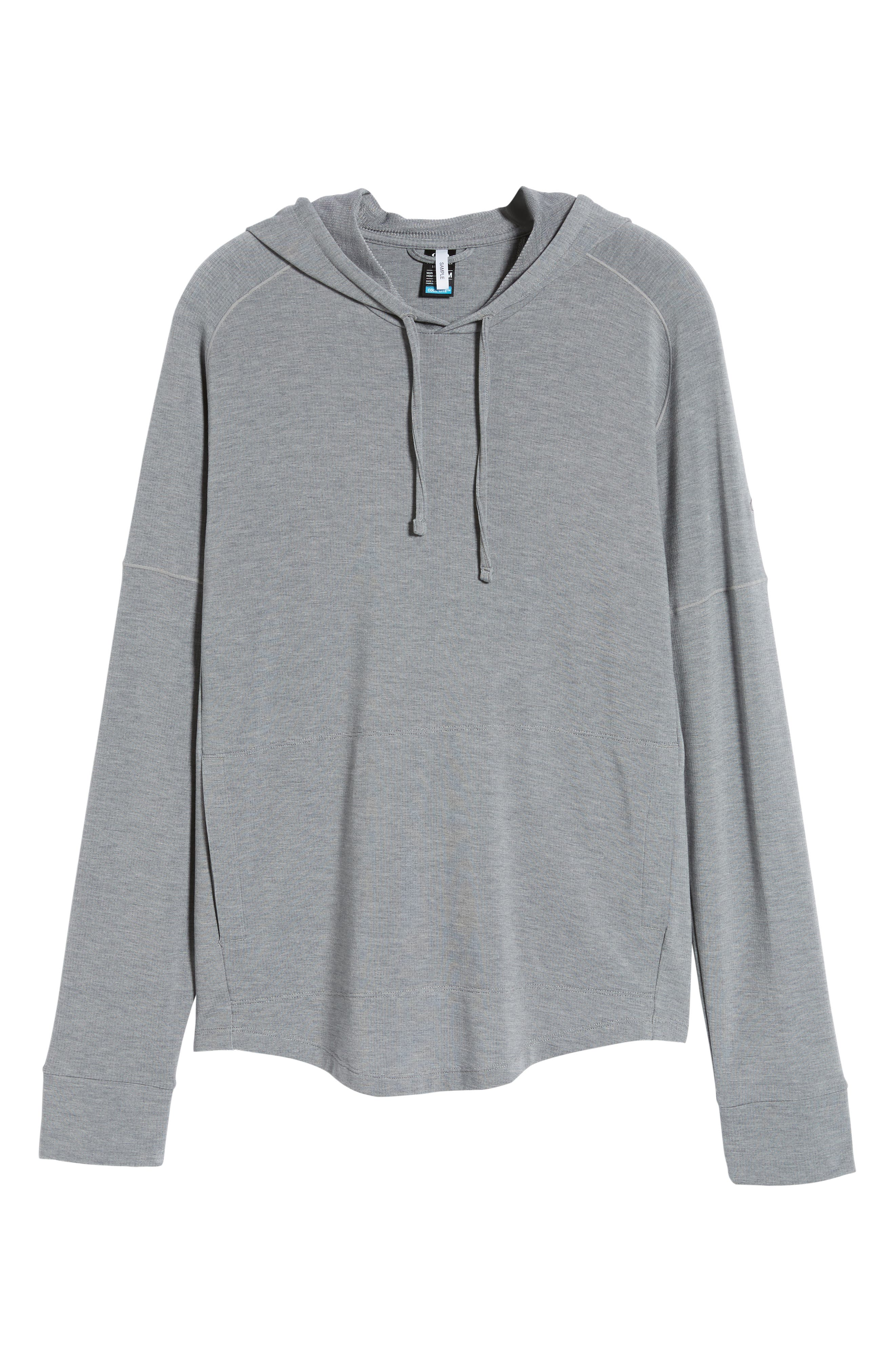 ,                             Momentum Hoodie,                             Alternate thumbnail 6, color,                             FOSSIL/ SNOW HEATHER