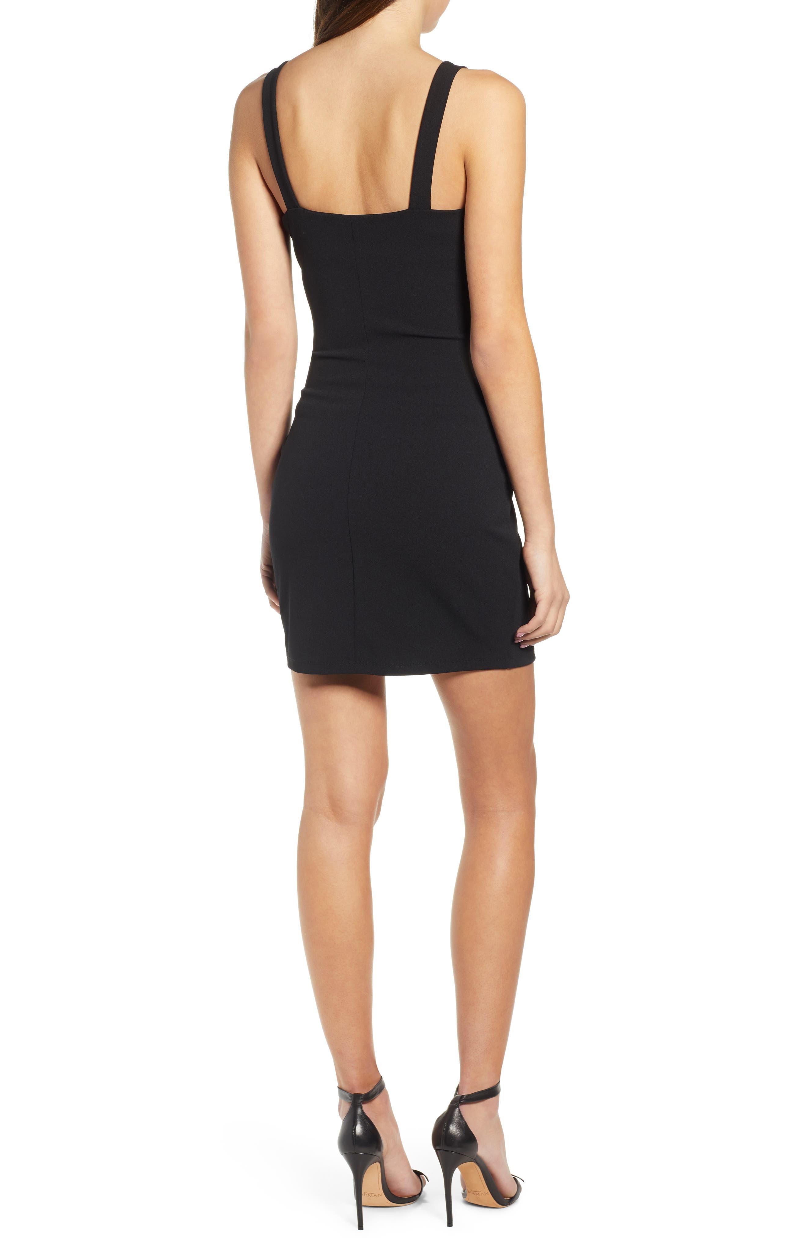 ,                             Seamed Body-Con Dress,                             Alternate thumbnail 2, color,                             BLACK