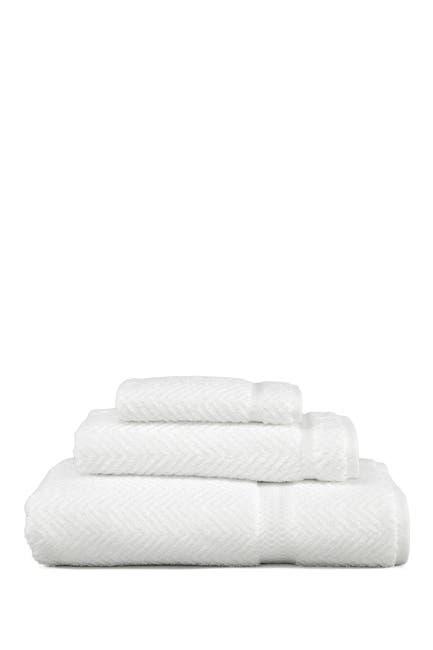 Linum Home White Herringbone 3 Piece Towel Set Nordstrom Rack