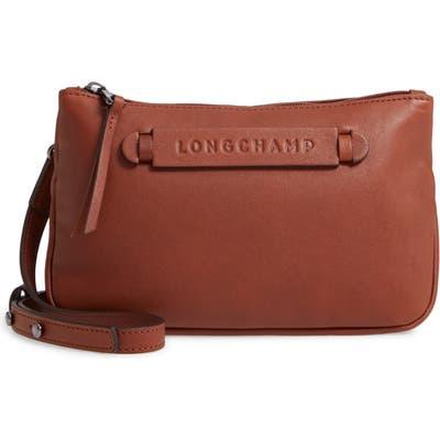 Longchamp 3D Leather Crossbody Bag - Brown