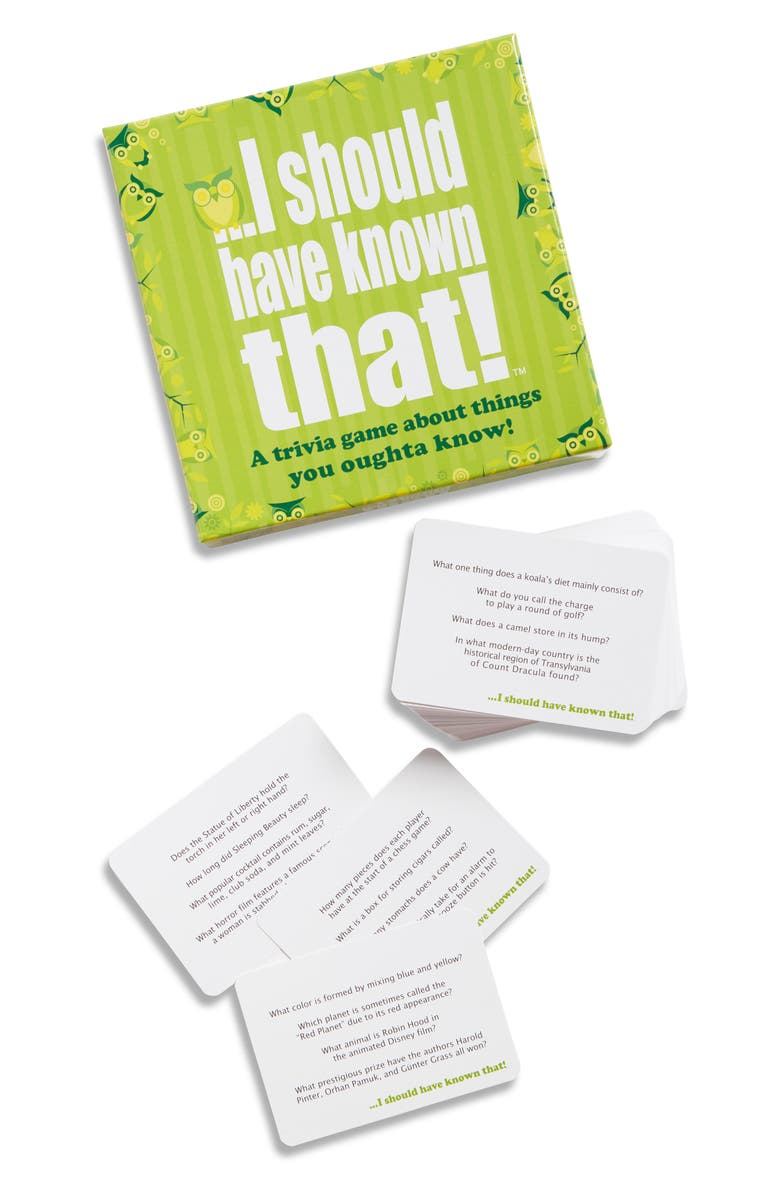 HYGGE GAMES I Should Have Known That Party Trivia Card Game, Main, color, 960
