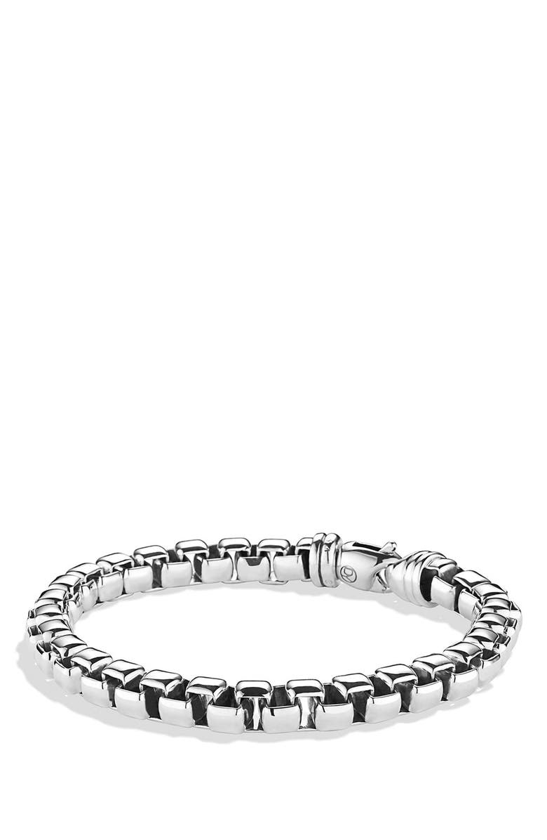 DAVID YURMAN Extra-Large Box Chain Bracelet, Main, color, SILVER