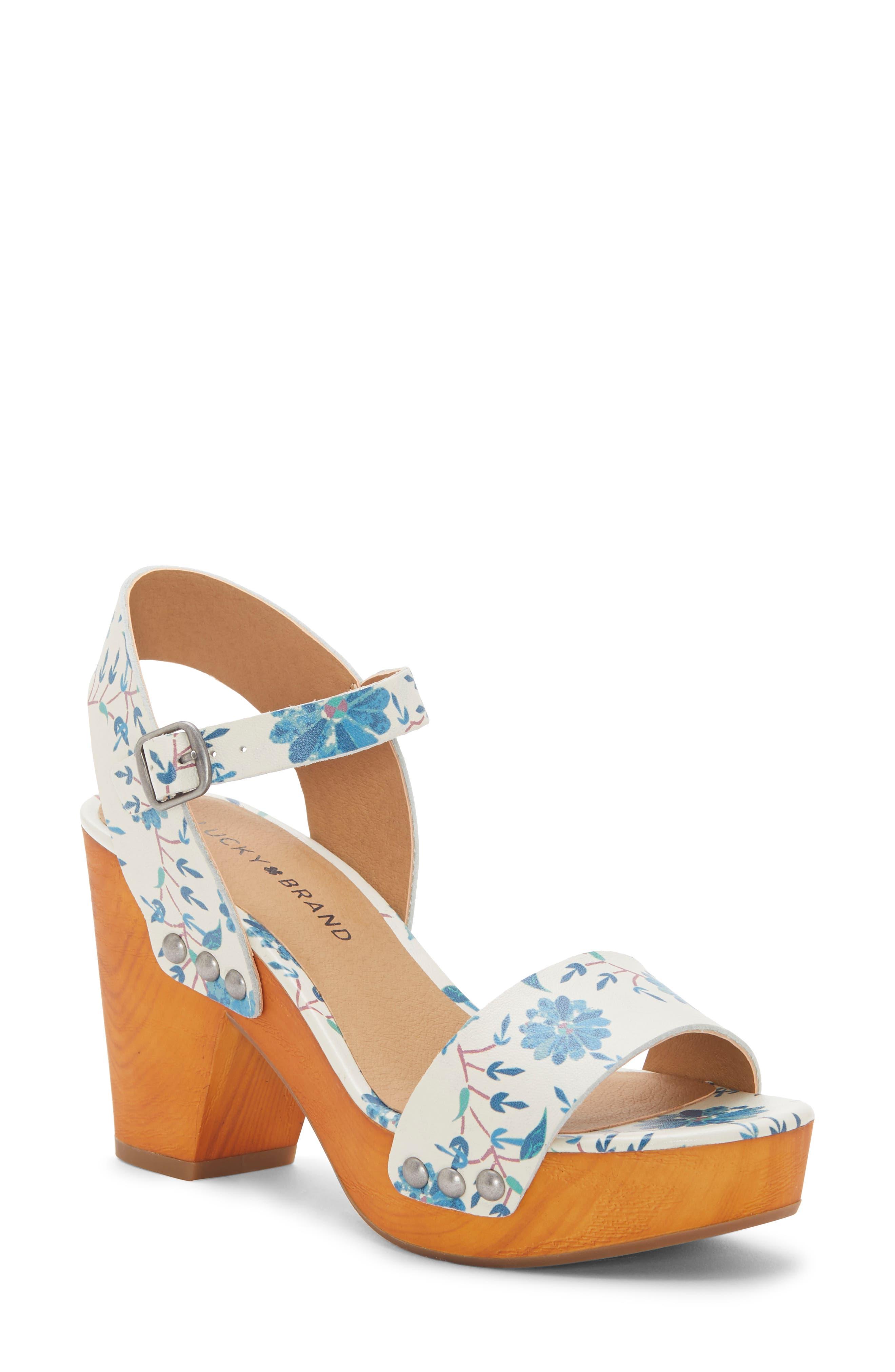 Lucky Brand Trisa Platform Sandal- White