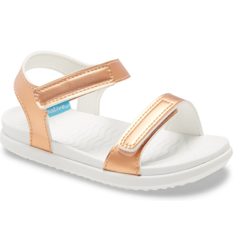 NATIVE SHOES Charley Metallic Water Friendly Sandal, Main, color, CHAMELEON METALLIC/ WHITE