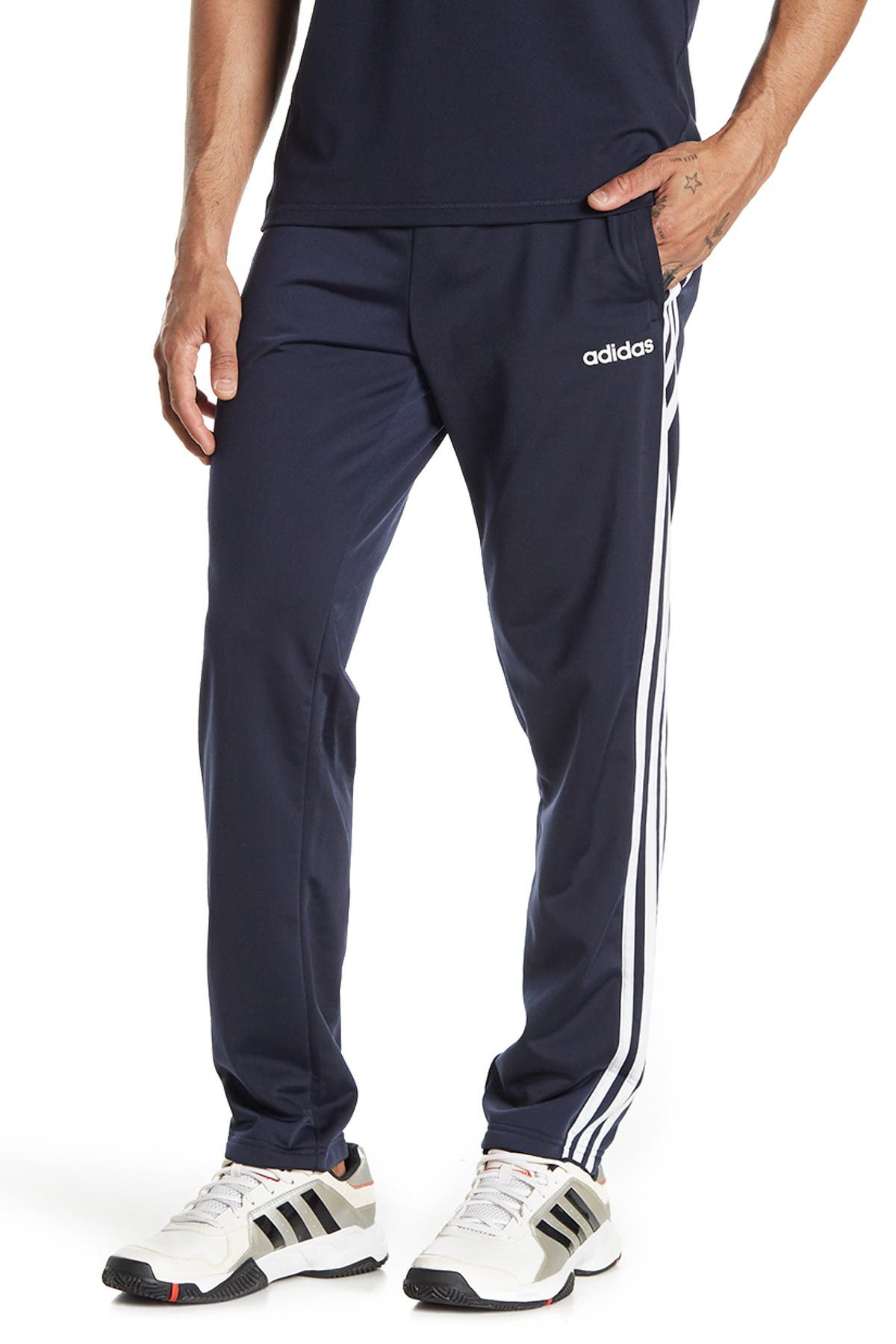 Image of adidas Essentials 3 Stripes Tapered Pants
