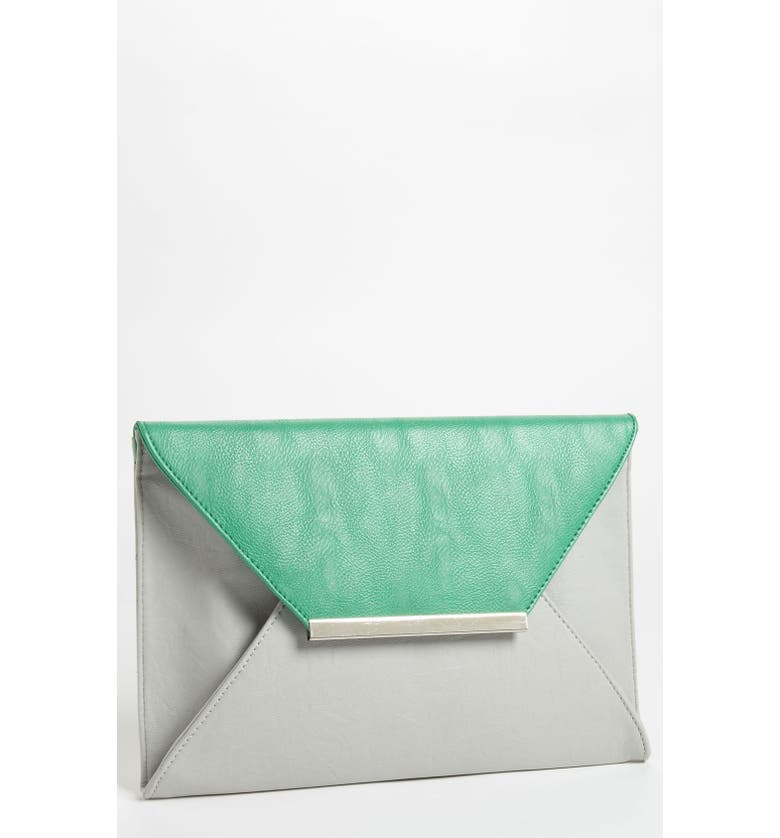 NILA ANTHONY Colorblock Clutch, Main, color, 020