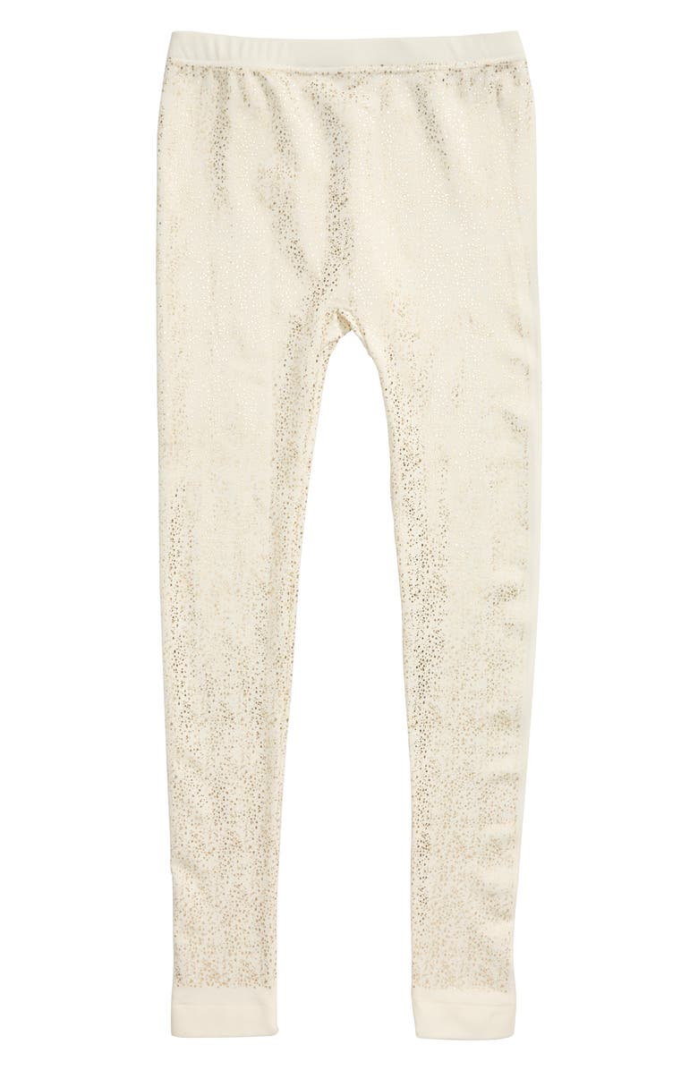 CAPELLI NEW YORK Foil Spray Leggings, Main, color, IVORY COMBO