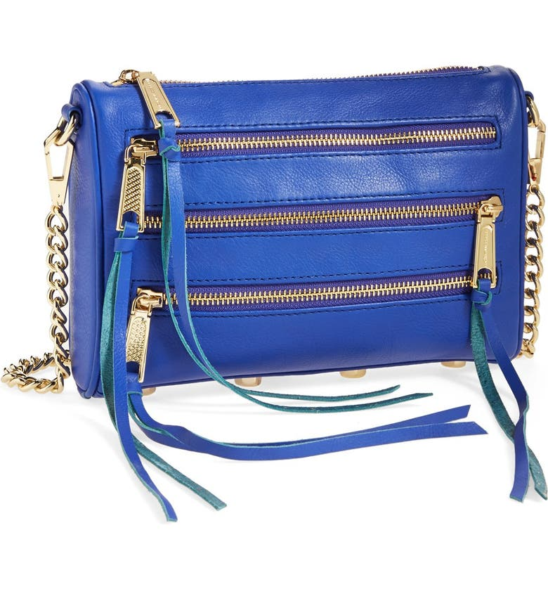 REBECCA MINKOFF 'Mini 5 Zip' Convertible Crossbody Bag, Main, color, 401