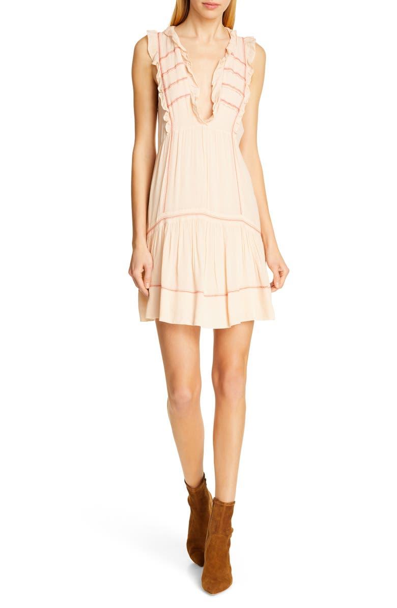 BA&SH Nox Sleeveless Peasant Minidress, Main, color, 254