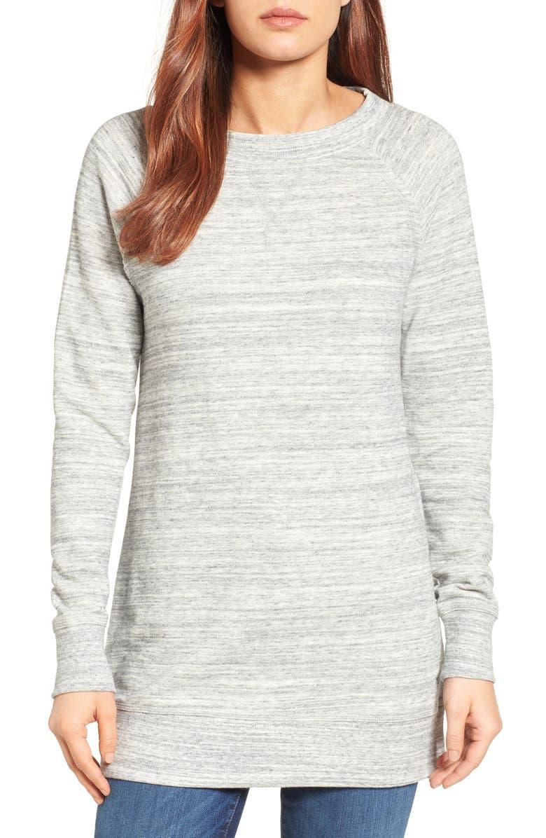 CASLON<SUP>®</SUP> Space Dye Tunic Sweatshirt, Main, color, 021