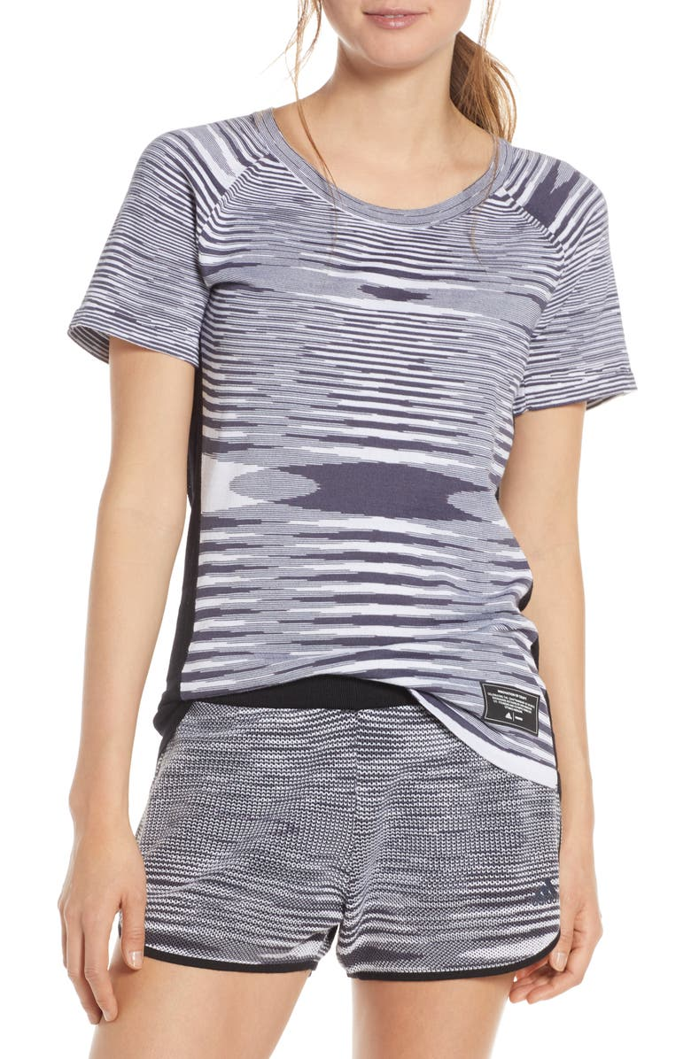 ADIDAS X MISSONI City Runners Unite Running Tee, Main, color, BLACK/ DARK GREY/ WHITE