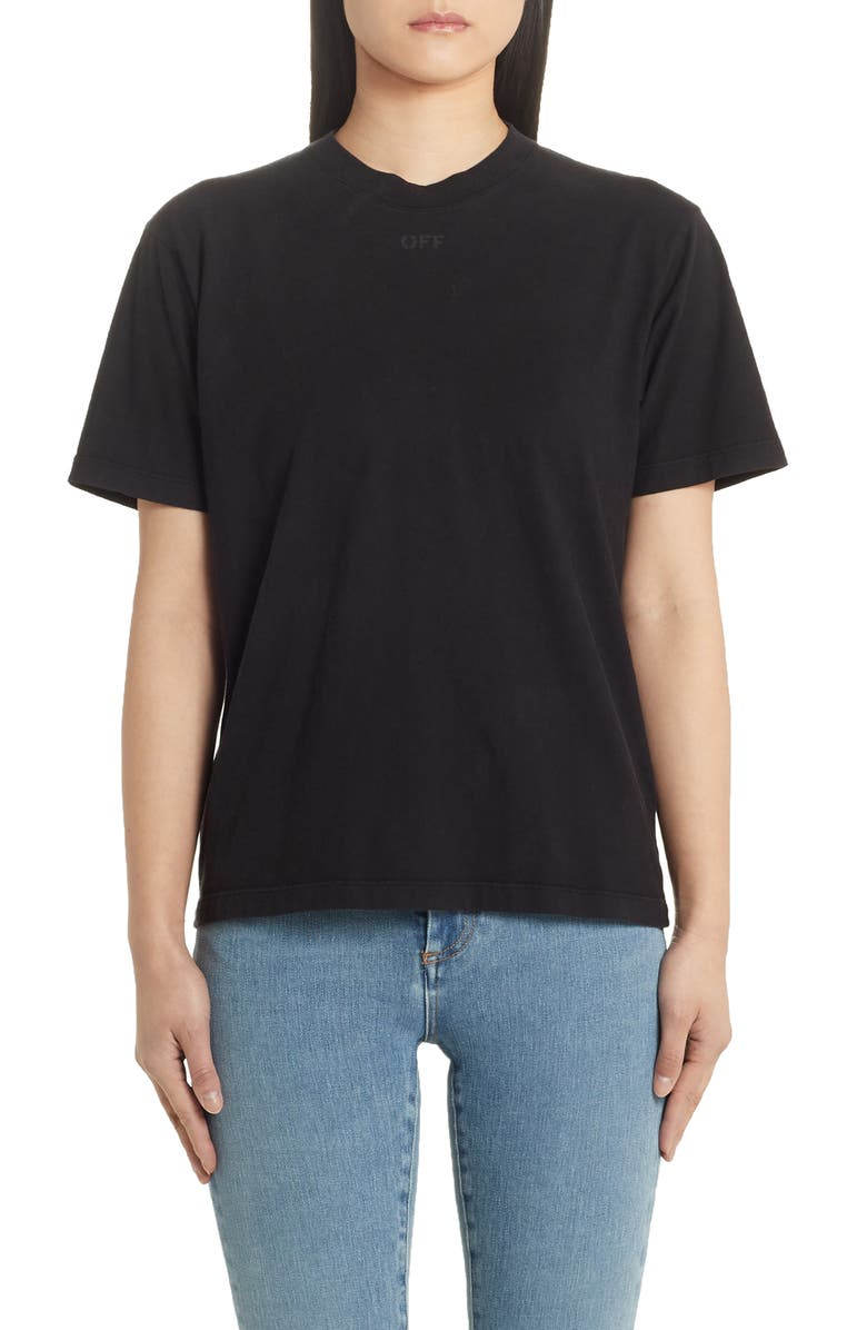 OFF-WHITE Arrows Casual Logo Tee, Main, color, BLACK