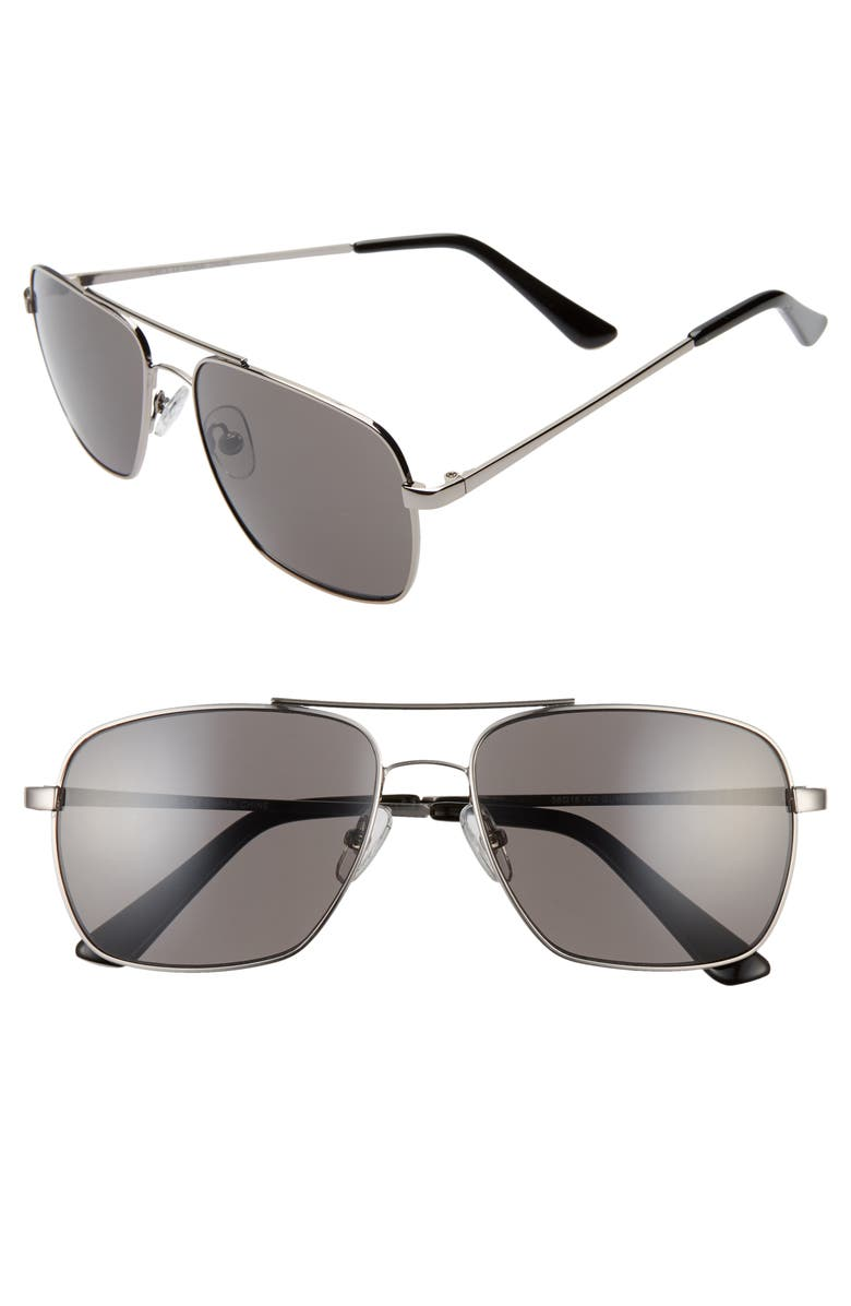 BP. James 58mm Navigator Sunglasses, Main, color, 040