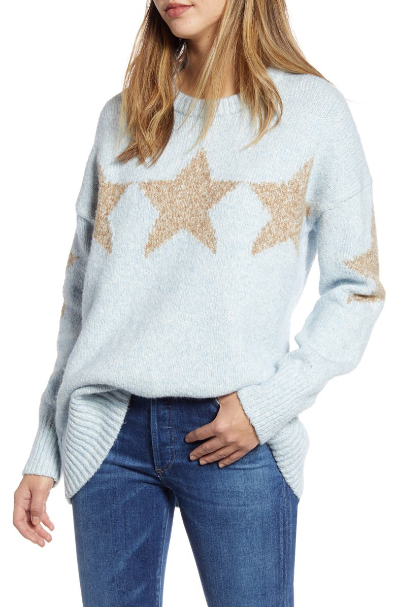 LOU & GREY Star Tunic Sweater, Main, color, 400