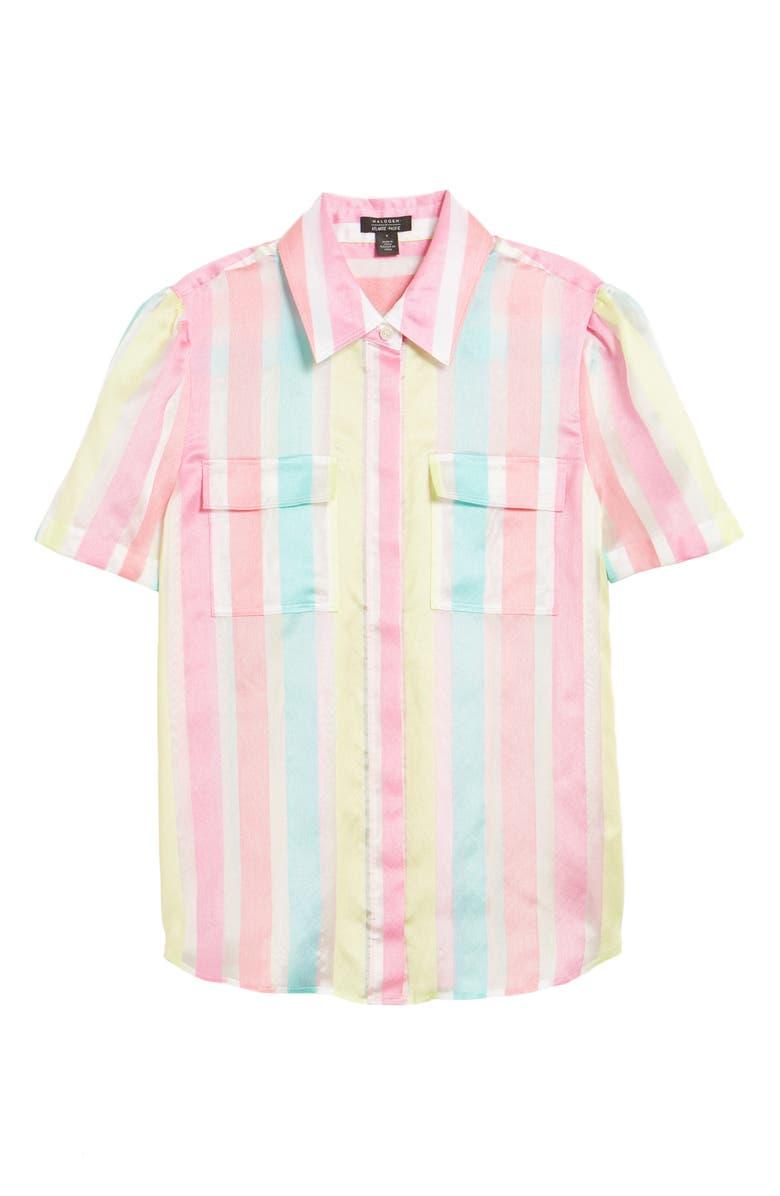 HALOGEN<SUP>®</SUP> x Atlantic-Pacific Stripe Utility Shirt, Main, color, 660