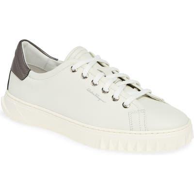 Salvatore Ferragamo Cube 2 Sneaker - White
