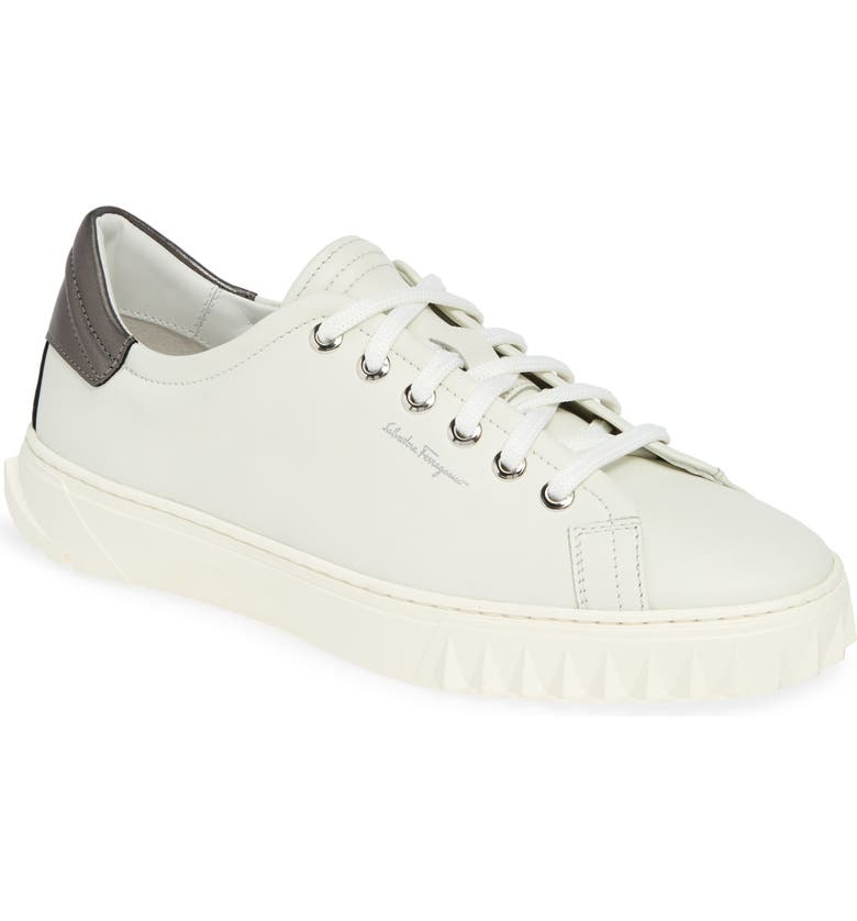 SALVATORE FERRAGAMO Cube 2 Sneaker, Main, color, WHITE/ ASPHALT