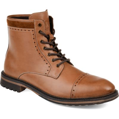 Thomas And Vine Briggs Lugged Cap Toe Boot, Brown
