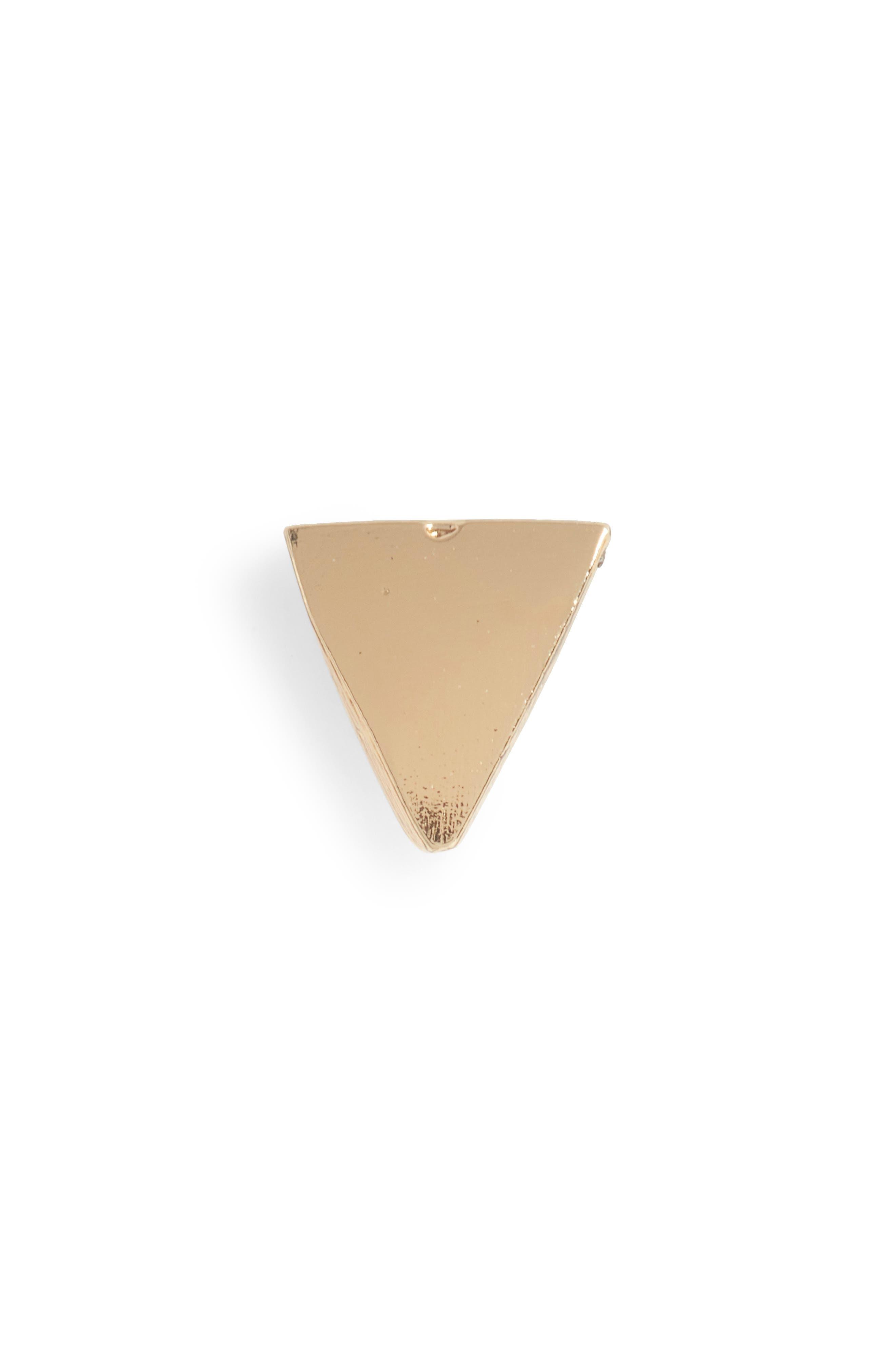 Tiny Triangle Stud Earring