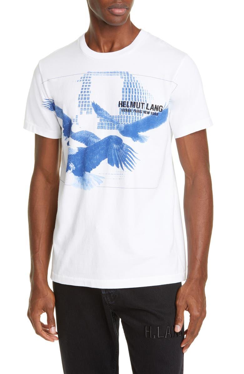 HELMUT HELMUT LANG Three Eagles T-Shirt, Main, color, CHALK WHITE