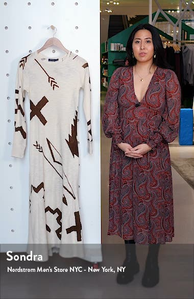 Long Sleeve Knit Midi Dress, sales video thumbnail