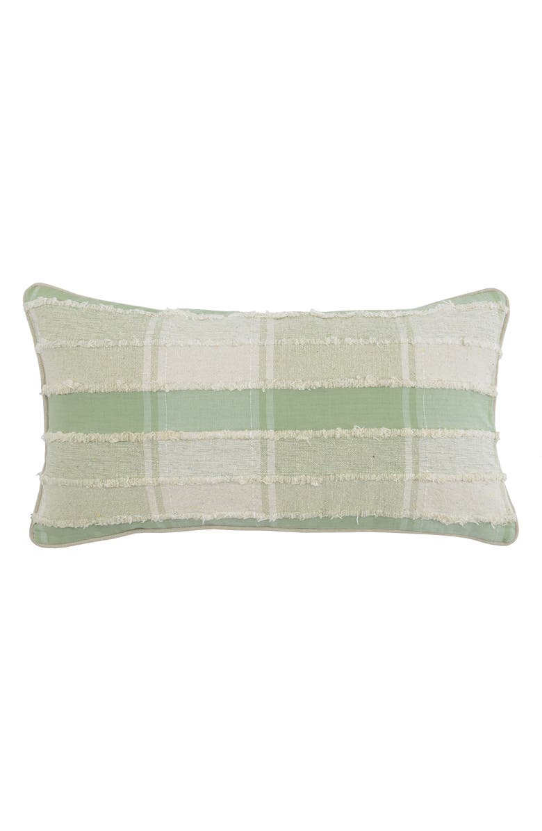 VILLA HOME COLLECTION West Accent Pillow, Main, color, MINT/ IVORY