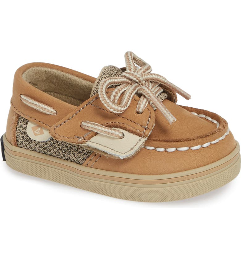 SPERRY KIDS Sperry Bluefish Crib Jr. Boat Shoe, Main, color, LINEN/ OAT