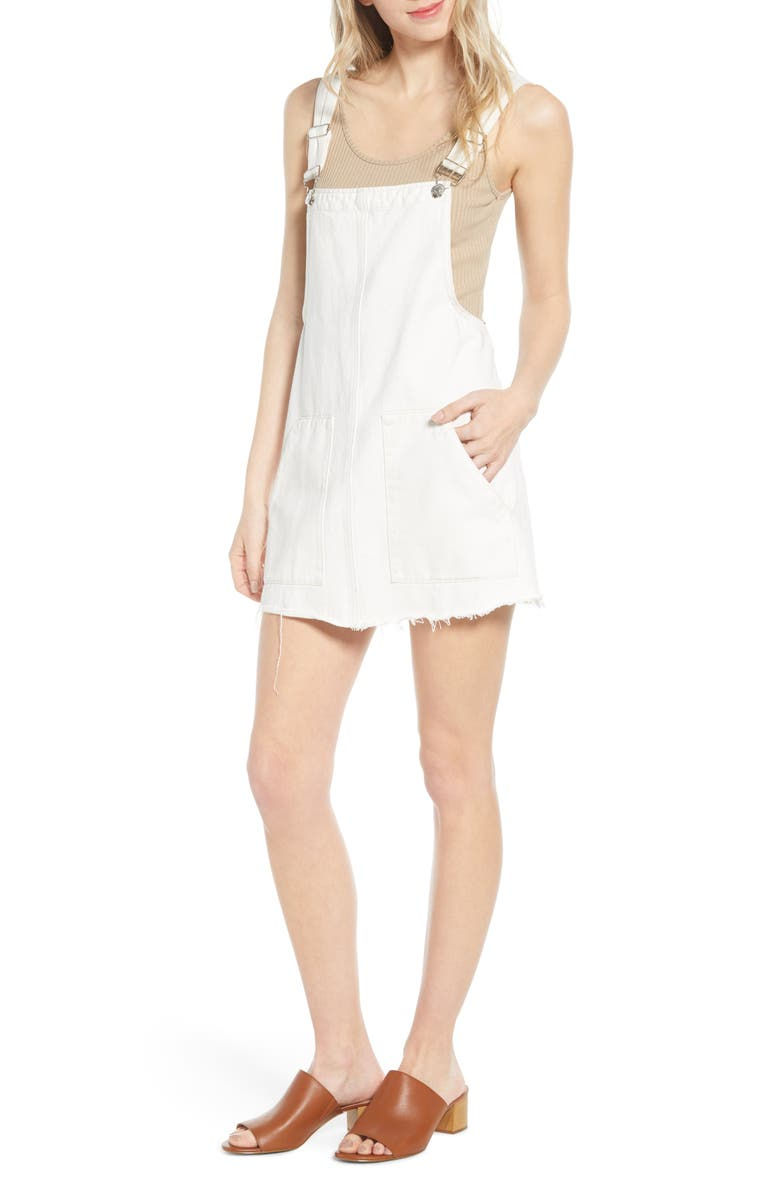 BISHOP + YOUNG Overall Dress, Main, color, WHITE DENIM