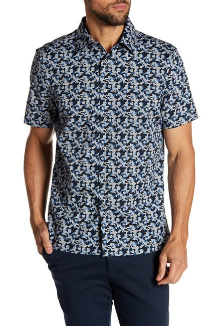 Image of Perry Ellis Cameo Short Sleeve Shirt