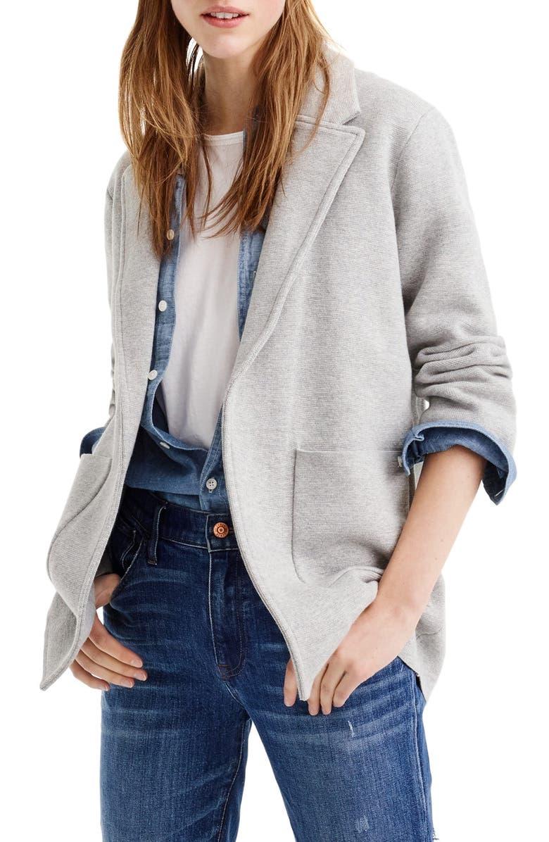 J.CREW New Lightweight Sweater Blazer, Main, color, 021